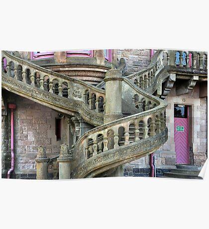 Belfast Castle _ Outside Stairway Poster