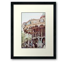 Pink Carousel In Paris Framed Print