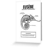 A chameleon named Eusèbe Greeting Card