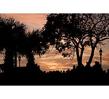 Contrasting Sunset Photographic Print