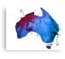 Watercolor map of Australia Canvas Print