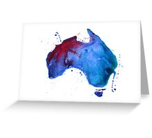 Watercolor map of Australia Greeting Card