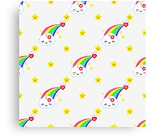 Kawaii Sweet rainbow Canvas Print