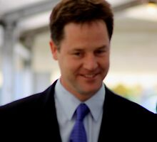 Nick Clegg Leader of LibDems - British Politician by Lynn Ede