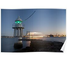 Cremorne Point by Night Poster
