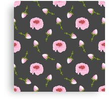 Beautiful rosebuds on a grey background Canvas Print