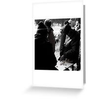 Chinese Chess in Beijing Greeting Card