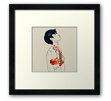 Oh the Fire Framed Print