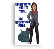 Sarah Jane and K-9 Canvas Print