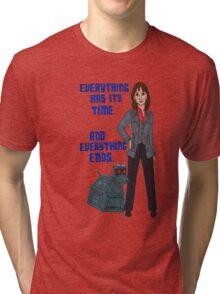 Sarah Jane and K-9 Tri-blend T-Shirt