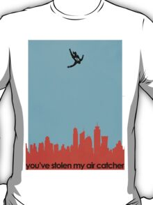 Air Catcher - Blue Background T-Shirt