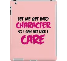 Get Into Character - Black & Magenta iPad Case/Skin