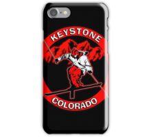 Keystone Colorado red skier iPhone Case/Skin