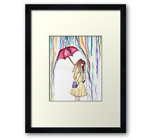 When it rains Framed Print
