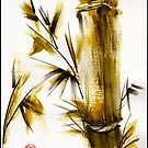 &quot;Morning Light&quot; Original acrylic and ink bamboo painting. by Rebecca Rees