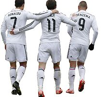 cristiano ronaldo and bale and benzema by makelele888
