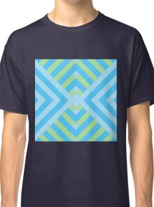Retro mosaic in blue and green Classic T-Shirt