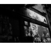 she stood under the unlit lamp posts and waited for him. And waited  Photographic Print