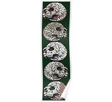 Skull Stack (Green Variation) Poster