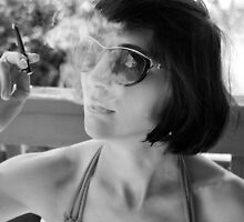 Smoking Portrait  by MissAudrey