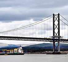 forth road bridge by John M Howie