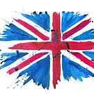 Watercolor Flag of the United Kingdom of Great Britain and Northern Ireland by Anastasiia Kucherenko