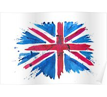 Watercolor Flag of the United Kingdom of Great Britain and Northern Ireland Poster