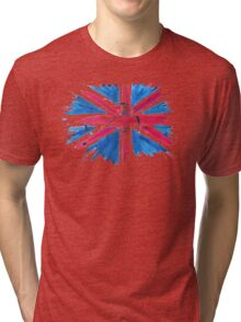 Watercolor Flag of the United Kingdom of Great Britain and Northern Ireland Tri-blend T-Shirt