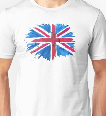 Watercolor Flag of the United Kingdom of Great Britain and Northern Ireland Unisex T-Shirt