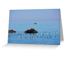 The Birds and the Sea and the Boat Greeting Card