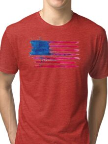 Watercolor Flag of the USA Tri-blend T-Shirt
