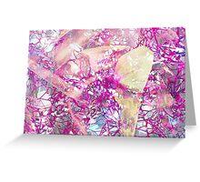 Watercolor Flower Crystal  Greeting Card