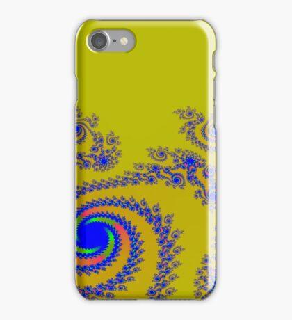 Blue Swirls on Gold iPhone Case/Skin