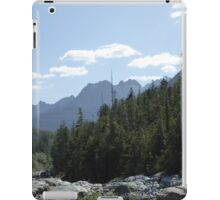 Trees and mountains landscape iPad Case/Skin