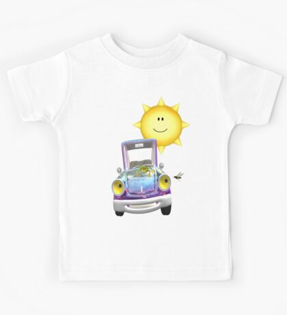 Fun Day Out .. the sun shines on the cute car Kids Tee