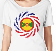 Grenadian American Multinational Patriot Flag Series Women's Relaxed Fit T-Shirt