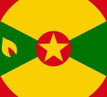 Grenadian American Multinational Patriot Flag Series Sticker