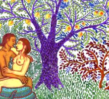 Adam and Eve Sticker