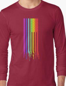 American Flag- Gay Pride Long Sleeve T-Shirt