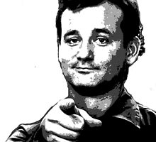 Awesome Bill Murray - Ghostbusters - Street art Graffiti Popart Andy warhol by Jonny2may by Jonny2may