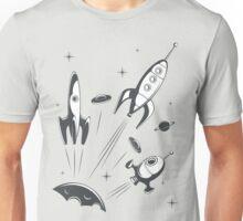 retro cosmo (white t-shirt) Unisex T-Shirt