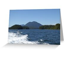 Sea, waves and mountains Greeting Card