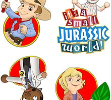 It's a small Jurassic World (sticker set JP1) by Robiberg