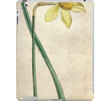 The Botanical magazine, or, Flower garden displayed by William Curtis V3 V4 1790 1791 0106 Narcissus Incomparabilis, Peerless Daffodil iPad Case/Skin