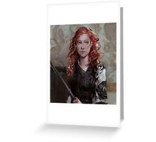 Red Temper Greeting Card