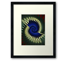 Blue Spiral Framed Print