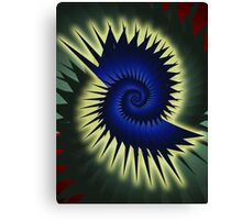 Blue Spiral Canvas Print