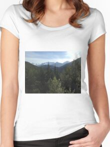 Mountains and rolling hills Women's Fitted Scoop T-Shirt