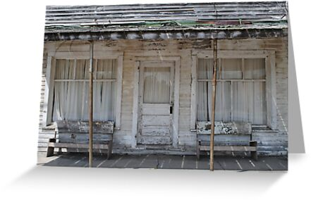 Old IOOF lodge on Route 66 by R.E Smith