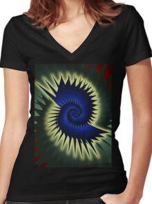 Blue Spiral Women's Fitted V-Neck T-Shirt